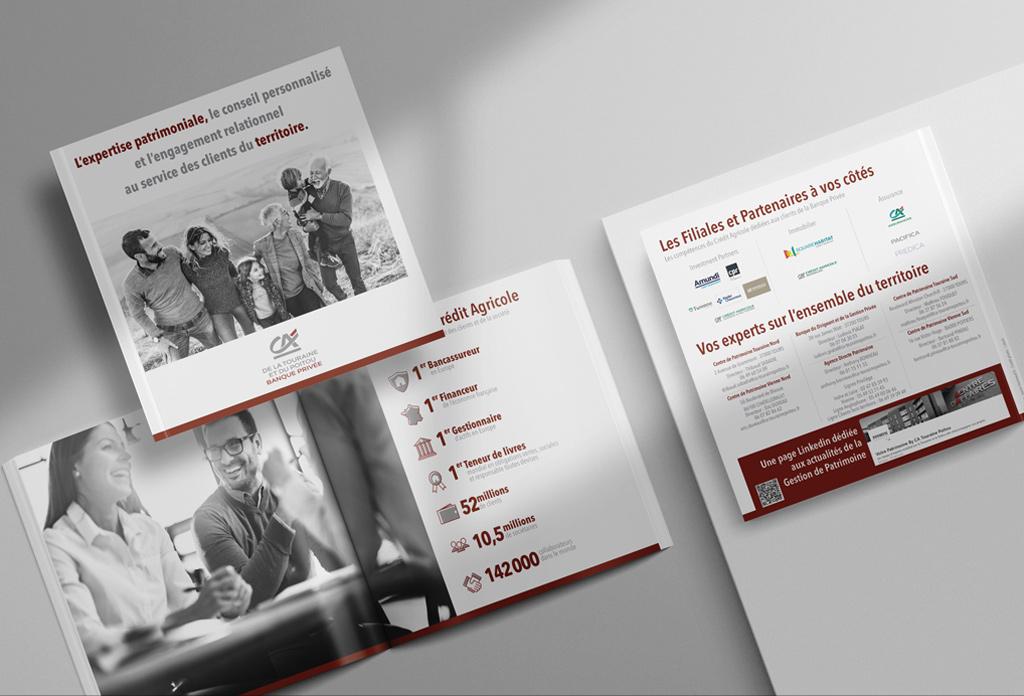 Plaquette de présentation de la filière Haut de gamme du Crédit Agricole de la Touraine et du Poitou
